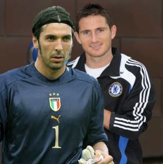 Buffon et Lampard : plein le dos